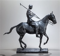 polo player on pony: harrison tweed by charles cary rumsey
