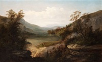 north carolina mountain landscape by william charles anthony frerichs