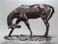 horse scratching by charles cary rumsey