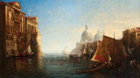 morning on the grand canal venice by george loring brown