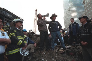 ground zero, new york city, september 14, 2001 by eric draper
