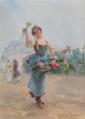 la marchande des fleurs by louis marie de schryver
