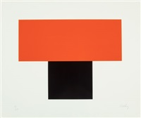 red orange over black by ellsworth kelly
