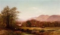 berkshire landscape (+ berkshire landscape; pair) by arthur parton