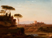 cecilia metello's tomb by hudson river school