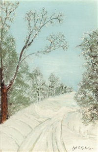 the wood road by grandma moses
