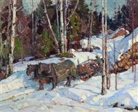 logging in vermont by aldro thompson hibbard