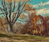 fall landscape by franklin b. de haven