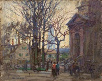a gloucester street by paul cornoyer
