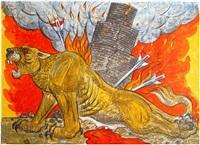 assyrian lion by luis jiménez