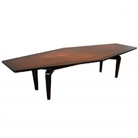 large walnut monteverdi young dining table with sculptural legs by monteverdi young