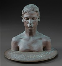 bust of young girl by robert graham