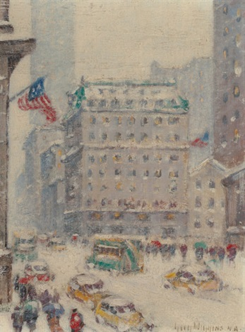 fifth avenue in winter by guy carleton wiggins