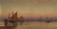 venetian coastline at sunset by william stanley haseltine