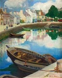 the little harbor, concarneau, brittany by dixie selden