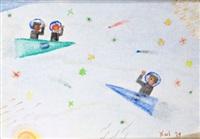 tres astronautas (three astronauts) by alejandro xul solar