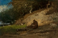 the hermit by george inness