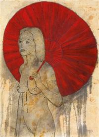 desnudo con sombrilla iv (nude with parasol iv) by joel jover llenderrosos