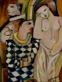 three figures by candido portinari