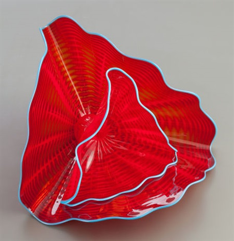 tango red persian pair by dale chihuly