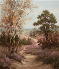autumn landscape by willem jacobus alberts