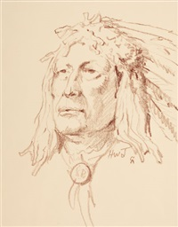 indian portrait by harvey william (bud) johnson
