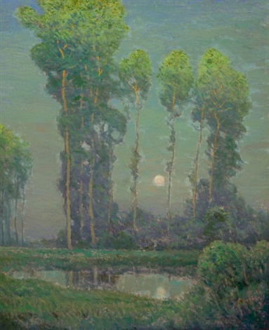 moonrise montigny by charles warren eaton
