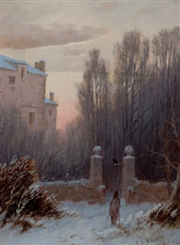 the old estate in winter by thomas lochlan smith