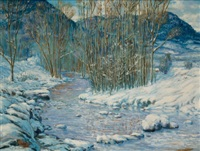 winter landscape by carl von hassler
