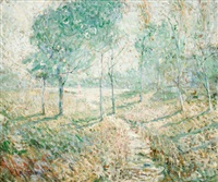 landscape with trees by ernest lawson