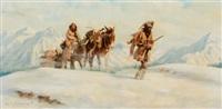 winter trek by harvey william (bud) johnson