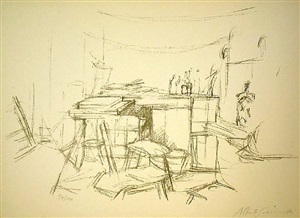 l'atelier aux bouteilles by alberto giacometti