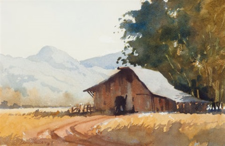 mountain cabin by david allen halbach