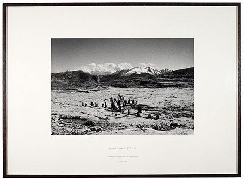 wandering stones, italy by richard long