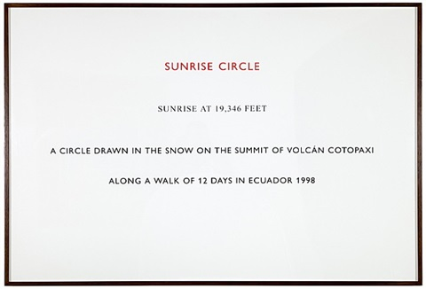 sunrise circle, ecuador by richard long