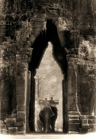 elephants at the gate- angkor thom by john mcdermott