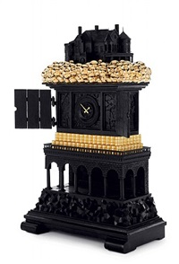 robber baron clock (view 2) by studio job