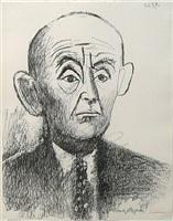 portrait de d. h. kahnweiler, i by pablo picasso