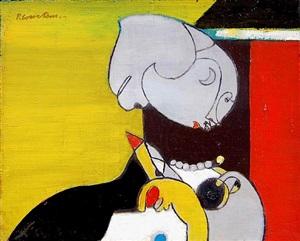 portrait de femme by pierre (baron) courtens