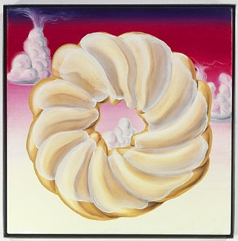 glazed cruller at dawn by kenny scharf