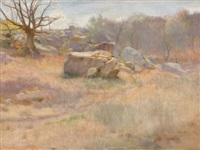 landscape with rock by harry mills walcott