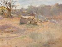 landscape with rock by harry mills walcott