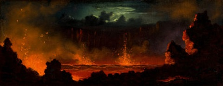 volcanic landscape by jules tavernier