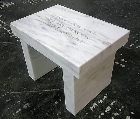 bench by jenny holzer