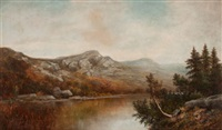 new england landscape by william henry hilliard