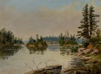 from bare island, stony lake, ontario by edward roper
