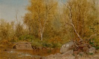 sandy stream, maine woods by jervis mcentee