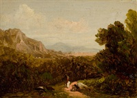 landscape with figure by david johnson