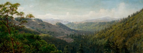 panoramic mountain landscape by thaddeus welch