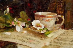 music, poetry and tea by katie swatland (sold)